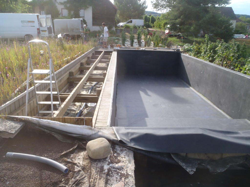 Aménagement paysager et aquatique, étancéhité, membrane EPDM COMBIER PAYSAGE 71