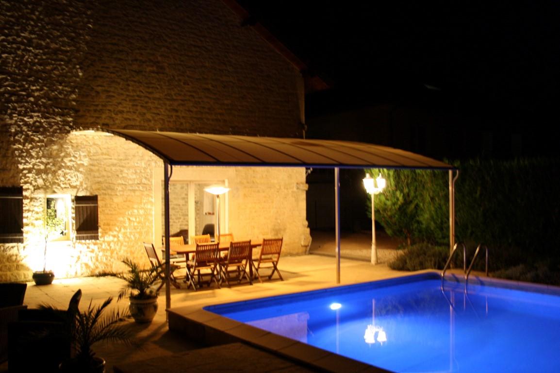 Aménagement paysager et aquatique, extérieur, Pergola, Terrasse, aluminium, COMBIER PAYSAGE 71