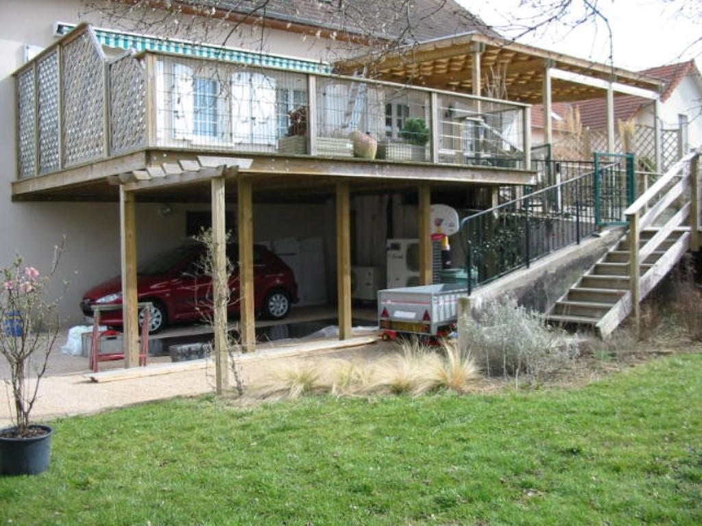 Amenagement Exterieur Terrasse Maison terrasse, dallage - combier paysage