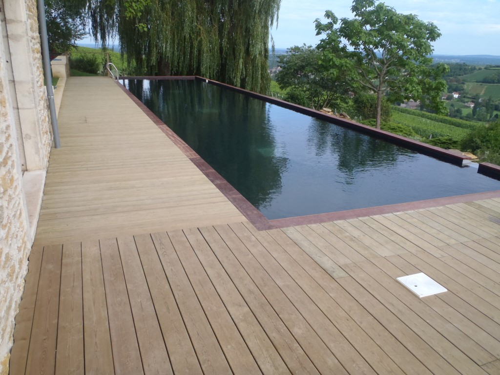 Piscine combier paysage for Construction piscine 19