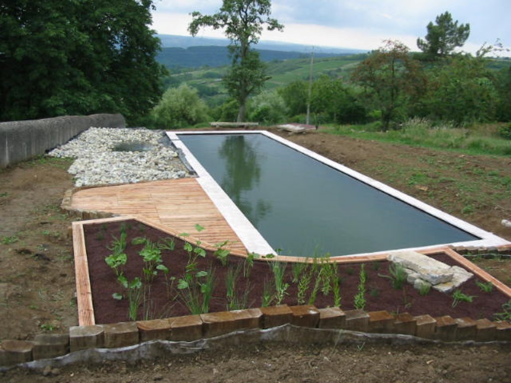 Aménagement extérieur, bassin à filtration naturelle COMBIER PAYSAGE 71