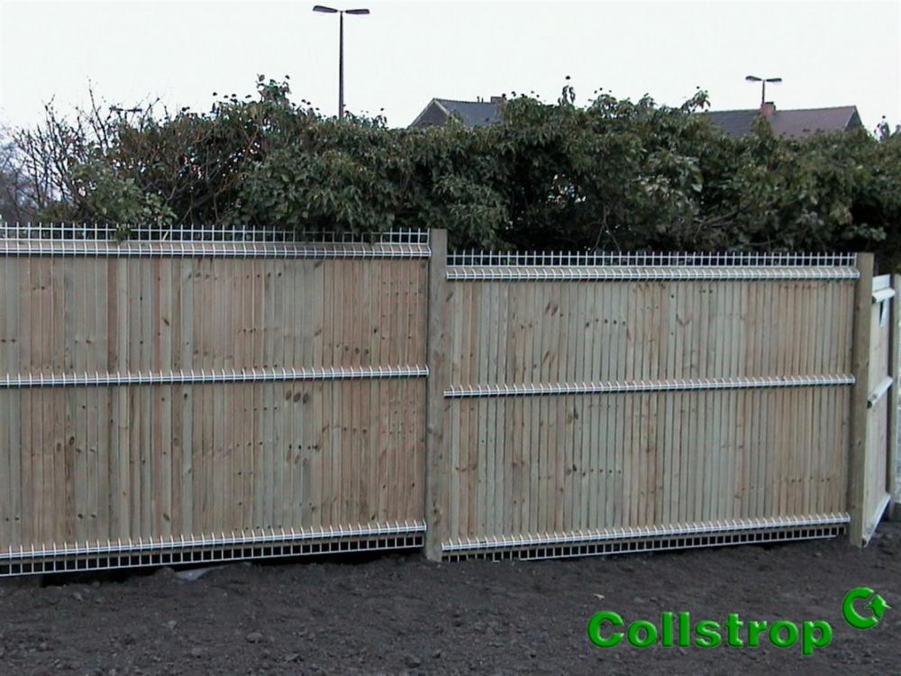 Panneau bois Collfort 123 x 200 cm treillis gris Combier Paysage # Panneau Bois Gris Anthracite